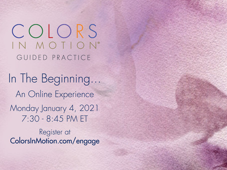 """Join us: """"In The Beginning..."""" Online Practice Group - Monday January 4, 2021"""