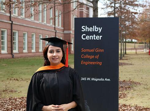 Master's graduation, Auburn University, Fall 2016.