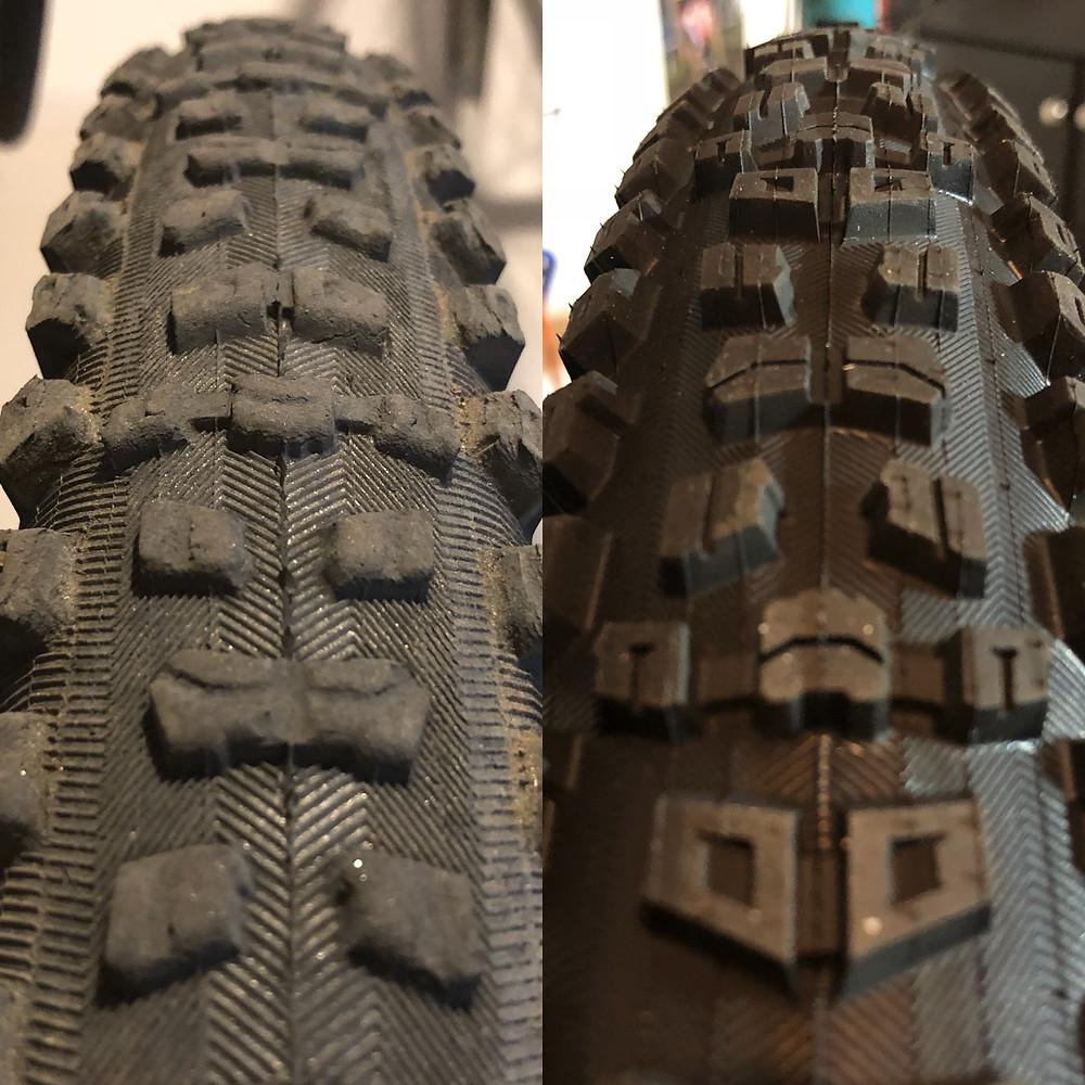 Baseline tread comparison
