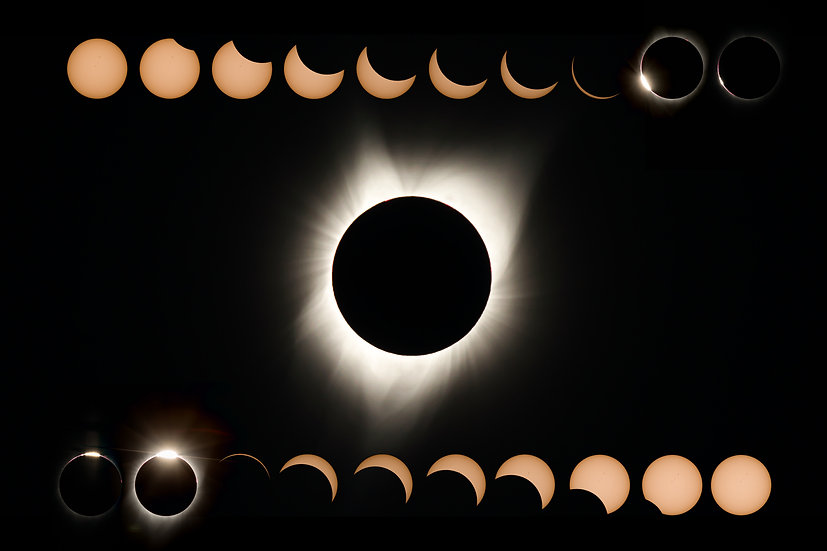 Great American Eclipse 2017 - All Phases (2)