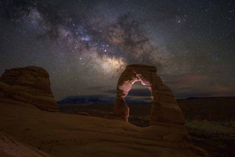 Delicate Arch and Milky Way (Arches N.P.)