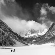 Clearing Storm Over Maroon Bells and Lake