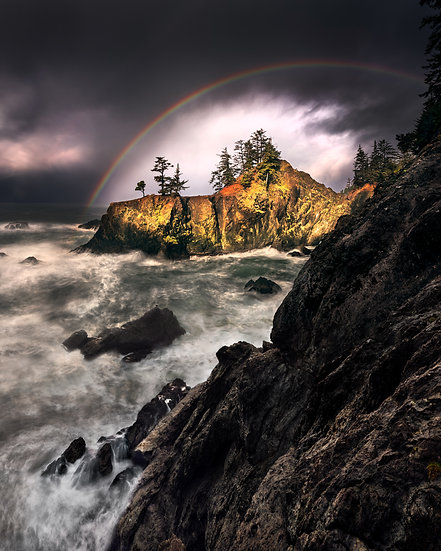 Oregon Coast Rainbow Sunrise