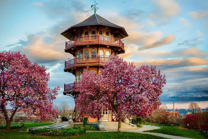 Pagoda Sunset (Patterson Park - Baltimore)