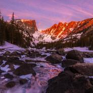 Dream Lake Alpine Glow Sunrise