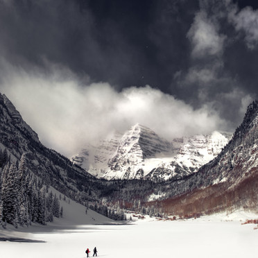 Maroon Bells Clearing Storm