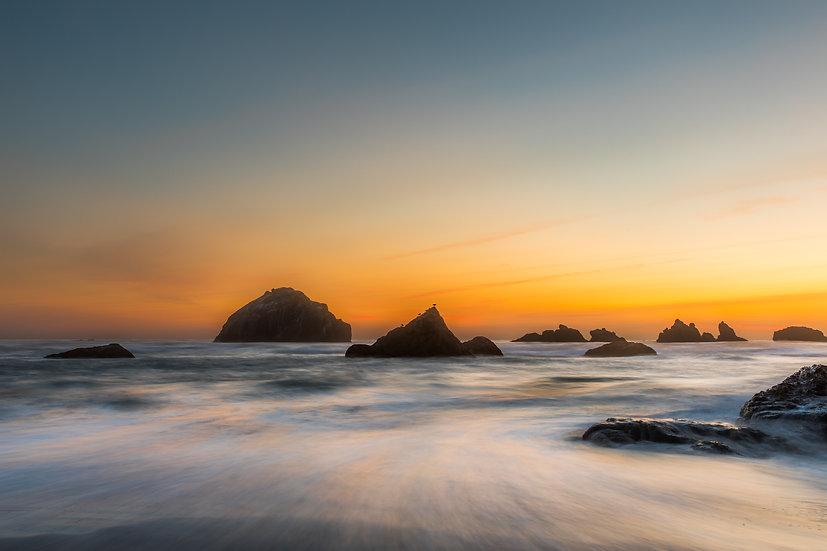 Bandon Beach Golden Sunset