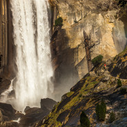 Vernal Falls and Hiker