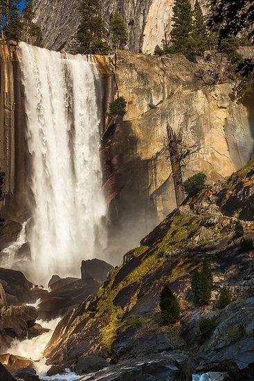 Vernal Falls and Hiker
