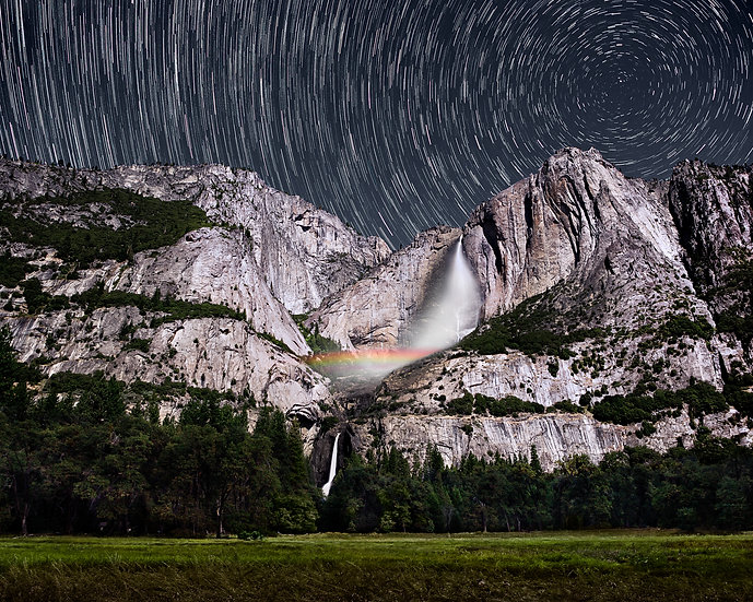 Yosemite Falls Lunar Rainbow Star Trails