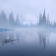 Tipsoo Lake Clearing Foggy Sunrise.jpg