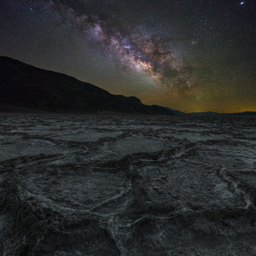 Badwater Basin and Milky Way (Death Valley N.P.)