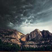 Yosemite Falls Autumn Storm