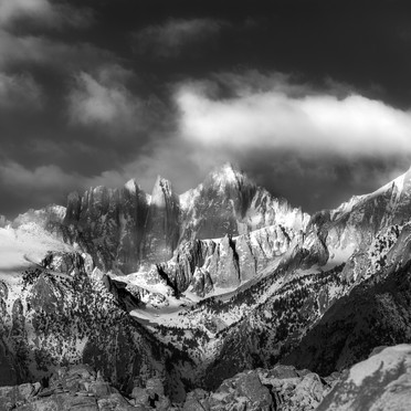 Mount Whitney Clearing Storm