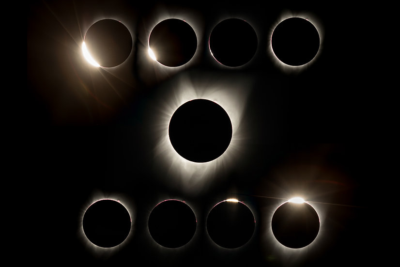 Great American Eclipse 2017 - Diamond Ring To Diamond Ring
