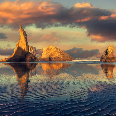 Bandon Sunrise With Ripples