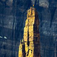 Rock Climber Golden Glow