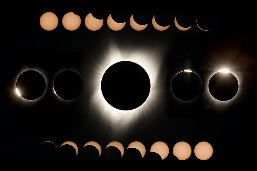 Great American Eclipse 2017 - All Phases