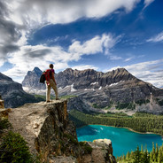 Lake O'Hara Hiker With View