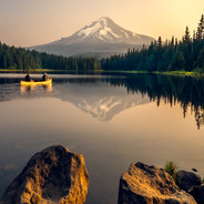 Mt Hood Sunrise Trillium Lake