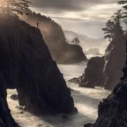 Oregon Coast Morning Sunburst