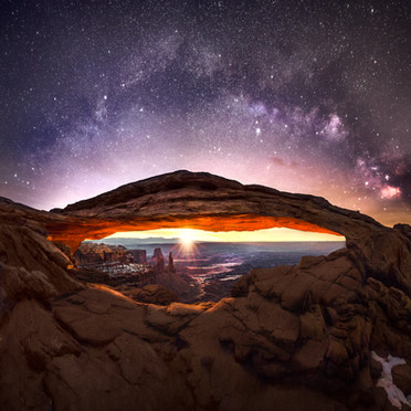Mesa Arch Milky Way Sunrise