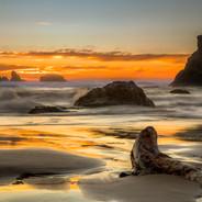 Oregon Coast Sunset (Bandon, Ore.)