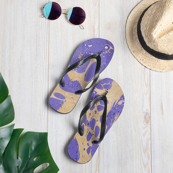Purple Marblelized Flip-Flops
