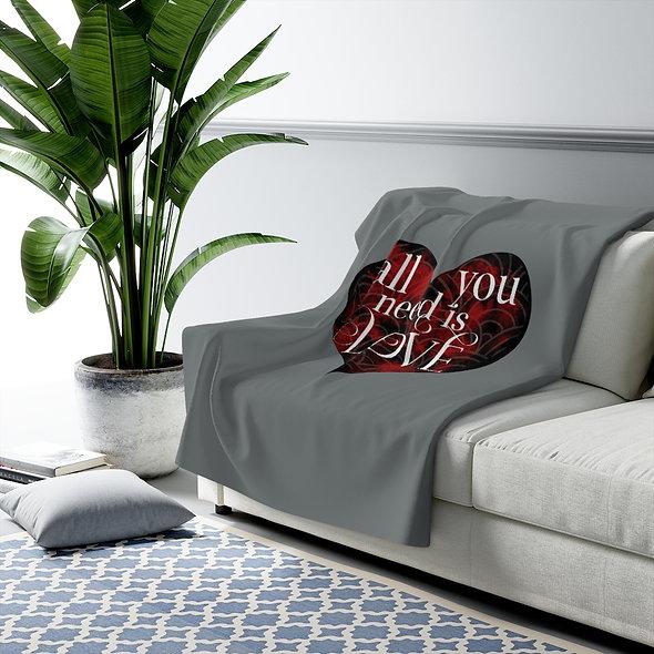 All You Need Is Love - Sherpa Fleece Blanket