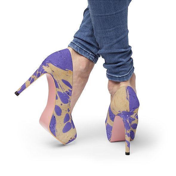 Women's Platform Heels - Purple Gold Dust