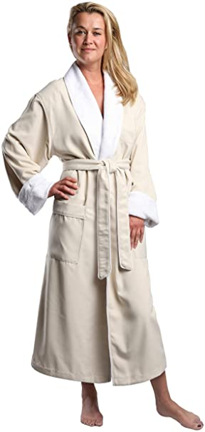 MONARCH Cypress' Plush Lined Microfiber Spa Luxury Robe