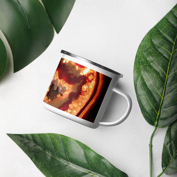 Orange Agate Enamel Mug