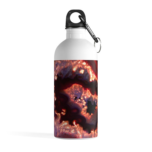 Lava Red Agate Stainless Steel Water Bottle