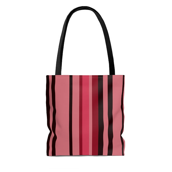 Tote Bag - Red Striped