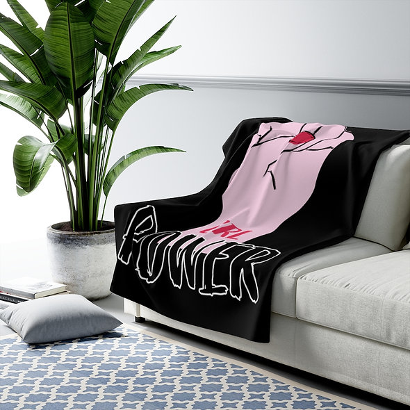 GRL POWER! Sherpa Fleece Blanket