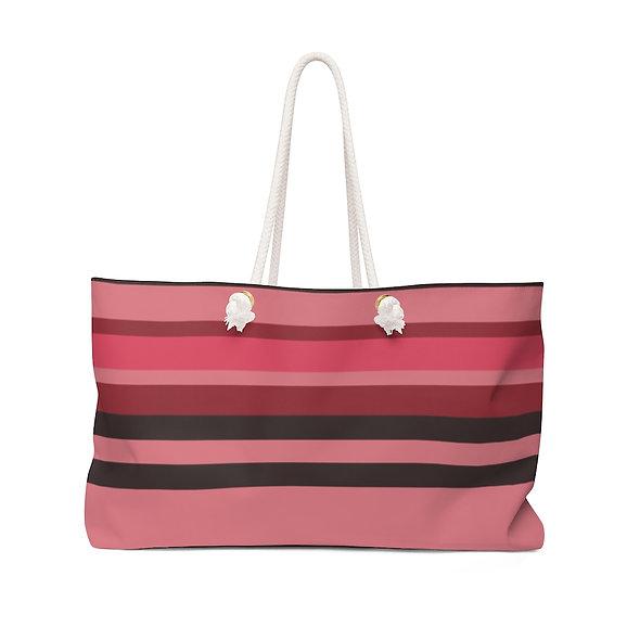 Weekender Bag - Striped Red
