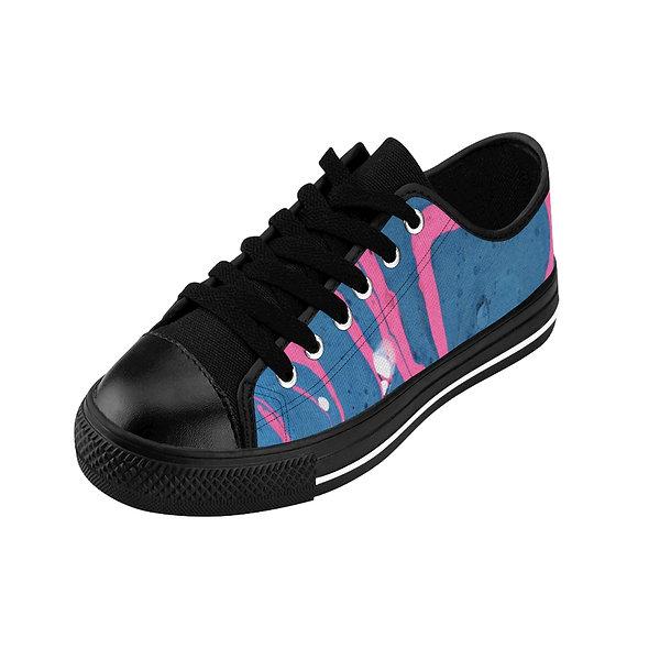 Marblelized Blue & Pink Women's Sneakers