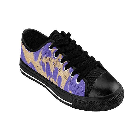 Marblelized Purple Women's Sneakers