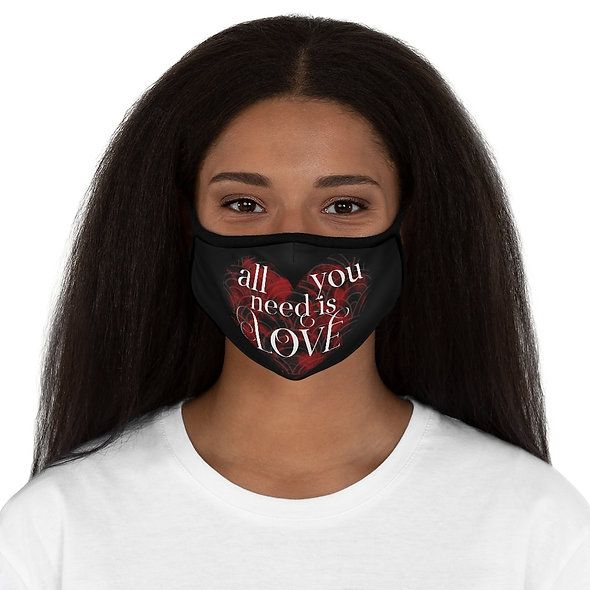 All You Need Is Love - Fitted Polyester Face Mask
