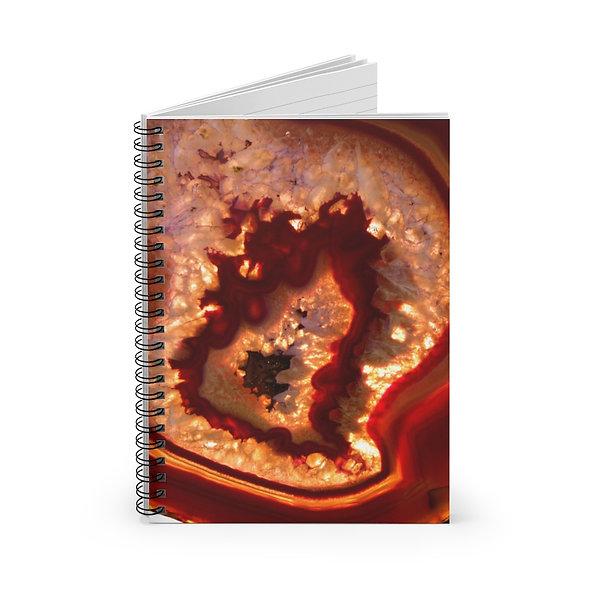 Burnt Orange Agate Spiral Notebook - Ruled Line