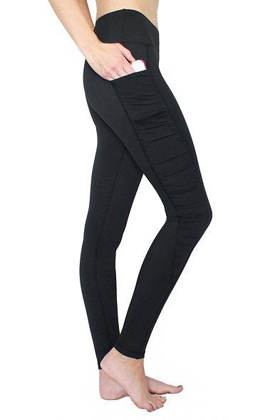 Black Ruffle - Pocket Pant - RESTOCKED