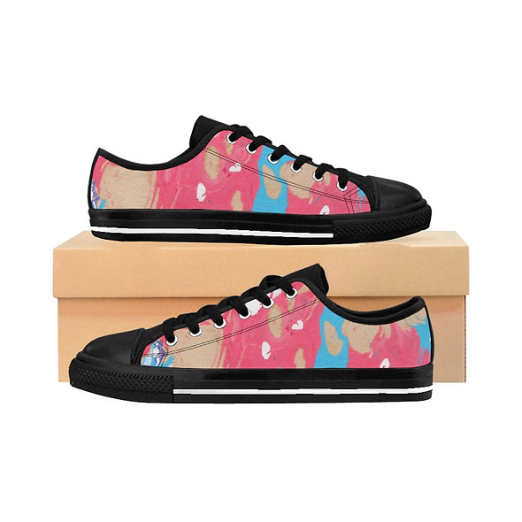Marblelized Pink Women's Sneakers