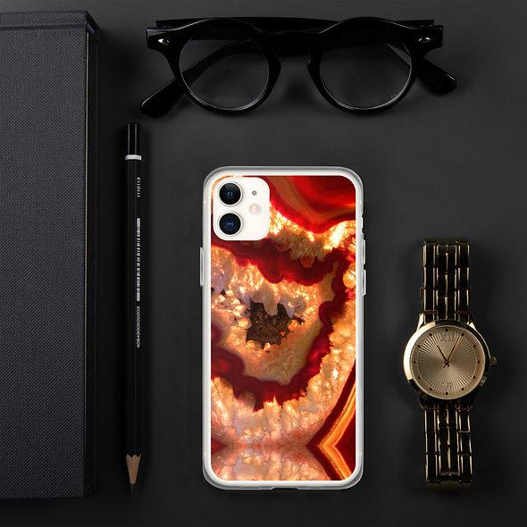 Burnt Orange Agate iPhone Case