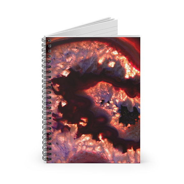 Lava Red Agate Spiral Notebook - Ruled Line