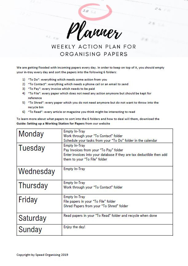 Planner_weekly action plan for organisin