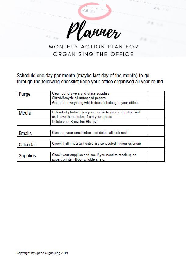 Planner_Monthly Action Plan for your off