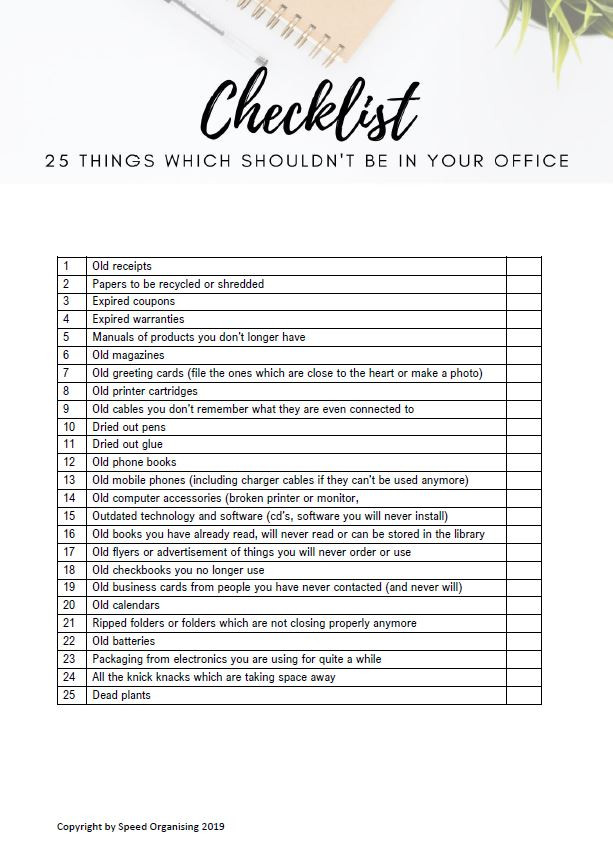 Checklist_Things which shouldn't be in y