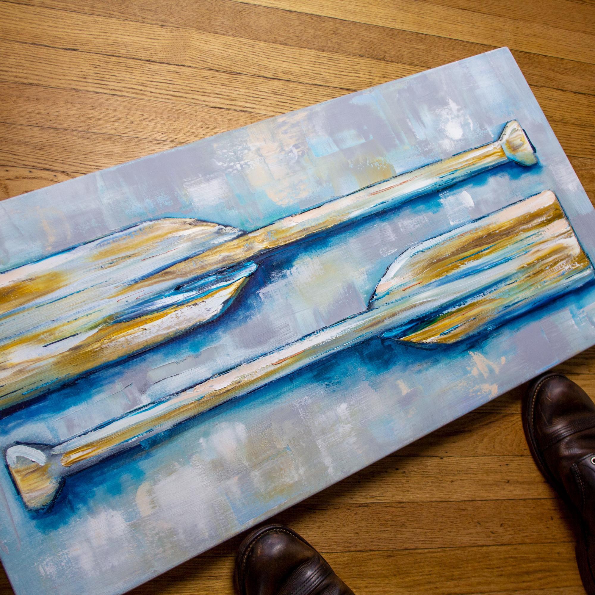 Canoe Paddle Painting
