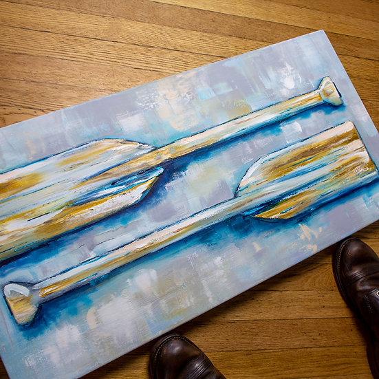 Paddle Series, Painting Number 6