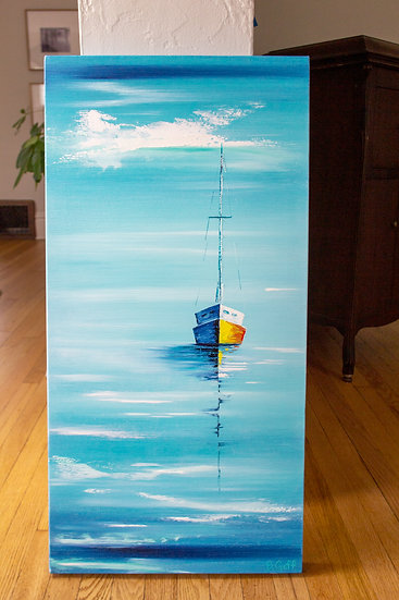 Solitude Sailboat Series, Painting Number 11